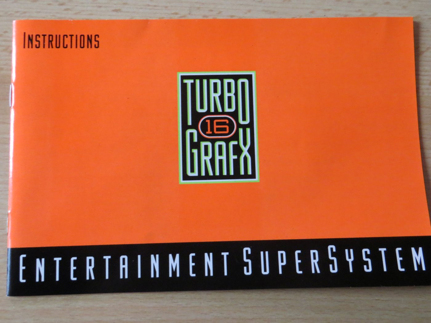 TurboGrafx-Instructions