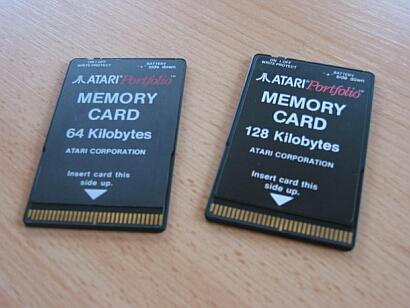 Atari Portfolio Memory Cards