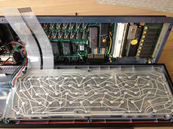 Sinclair QL - Tastatur Membrane - neue Membrane eingepasst