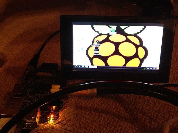 Raspberry Pi mit 4,3'' TFT Bildschirm