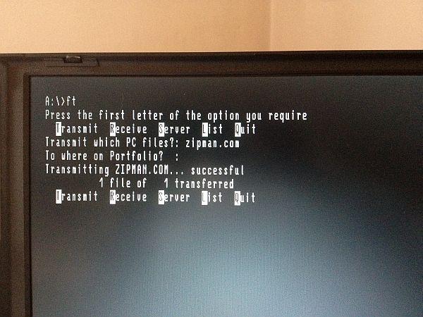 Atari Portfolio - Datenübertragung mit FT.COM