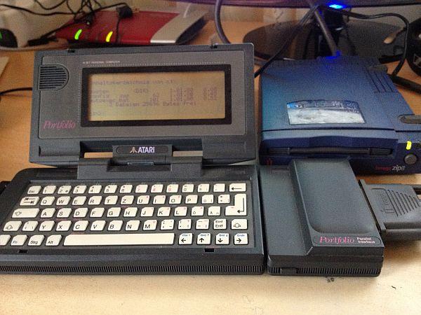 Atari Portfolio mit ZIP-Laufwerk