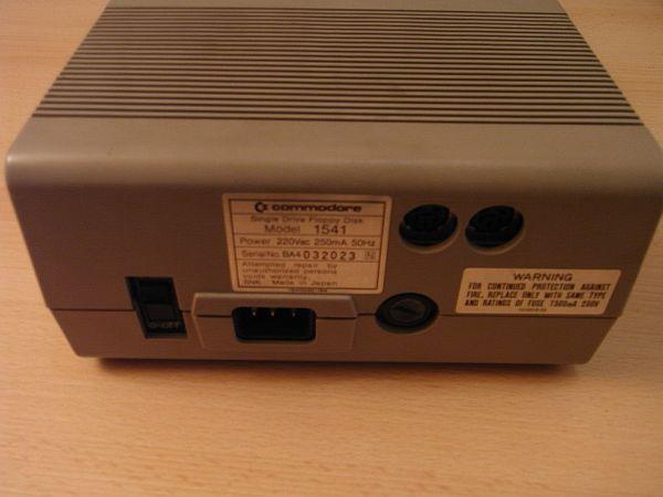 Commodore 1541 Rückseite