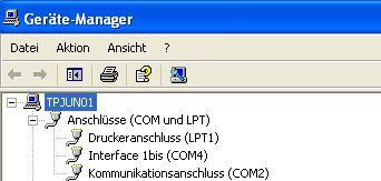 Interface 1bis - Gerätemanger