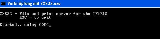 Interface 1bis - ZXS32 DOS Box
