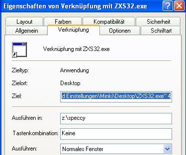 Interface 1bis - ZXS32 Verknüpfung