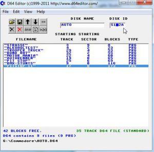 Commodore - D64 Editor