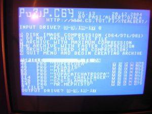 C64 PUZIP - Ziellaufwerk wählen