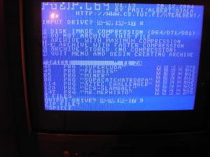 C64 PUZIP - Namen des Archivs eingeben