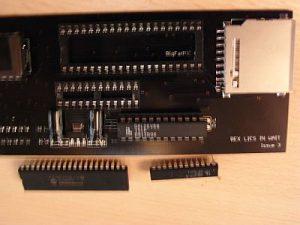ZXpand Vorbereitung - Prozessor und Gal entfernt