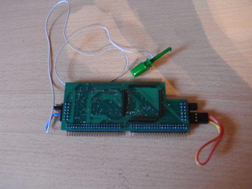 STE IDE Board Rückseite mit Sockel für CPU