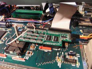 Atari 1040 STE Hauptplatine nach dem Umbau