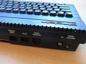 Sinclair ZX Spectrum +2A Anschlüsse rechts