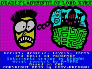 Deadly Labyrinth of Lord Xyrx - Titelscreen