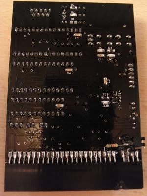 DivMMC Enjoy - Rückseite - unten recht der Jumper für den +128K Toastrack