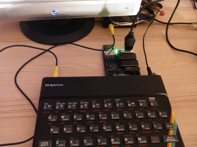 DivMMC Enjoay! am Spectrum 48K mit Joystick
