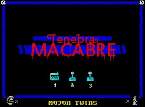 Tenebra Macabre - Menü