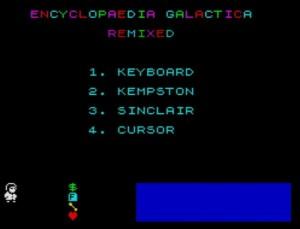 Encyclopaedia Galactica - Menü