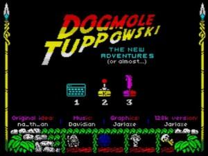 Dogmole Tuppowski - Menü