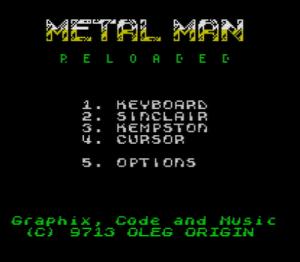Metal Man Reloaded - Menü