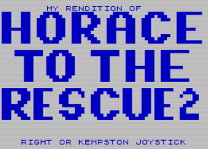 My Rendition of Horace to the Rescue2 - Menü