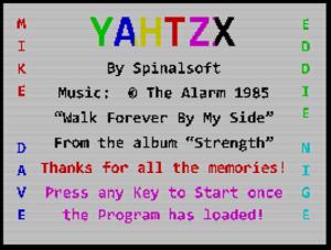 YAHTZX - Ladescreen