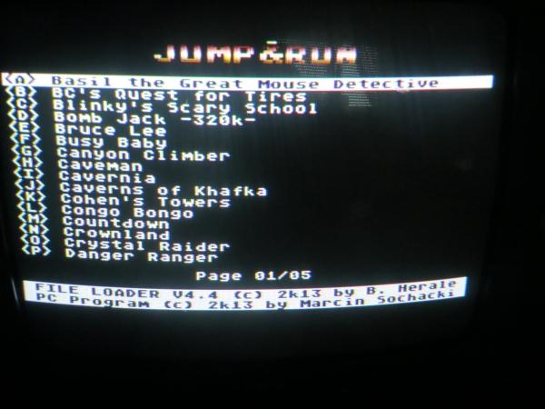4MB Flash MegaCart - Menü