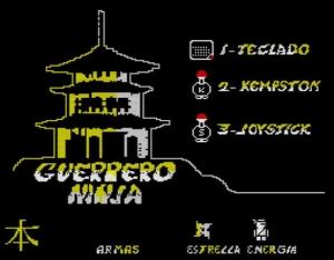 Guerrero Ninja - Menü