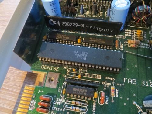 Indivision ECS - Amiga 500 Denise Sockel