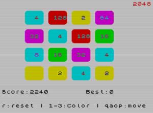 ZX2048 Screen