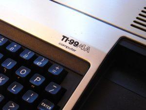 TI-99/4A Schriftzug
