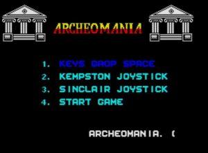Archeomania - Menü