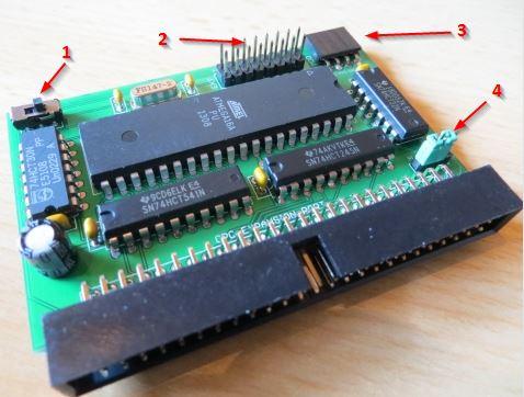 MiniBooster MX4 - Schalter und Anschlüsse