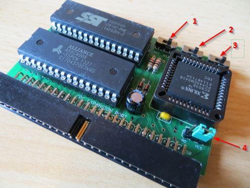 X-MEM MX4 - Schalter/Jumper