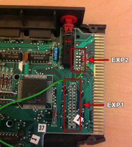 Enterprise 128 - Platine Sockel und Anschlüsse