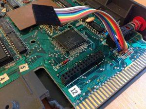 Enterprise 128 - Platine Sockel und Anschlüsse - verlötet