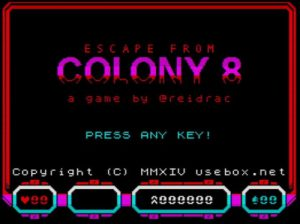 Escape From Colony 8 - Startscreen