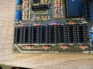 Lower RAM Reparatur - Sockel für die Speicher eingesetzt