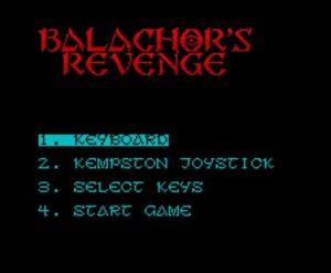 Balachors Revenge - Menü