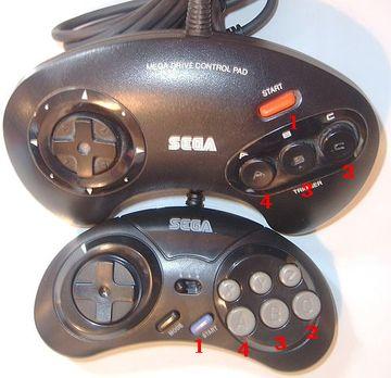 VecAdapt - Sega Controller - Zuordnung der Knöpfe