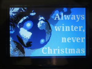 Always Winter Never Christmas - Titelscreen