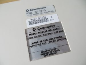 Amiga 1200 Label Unterseite