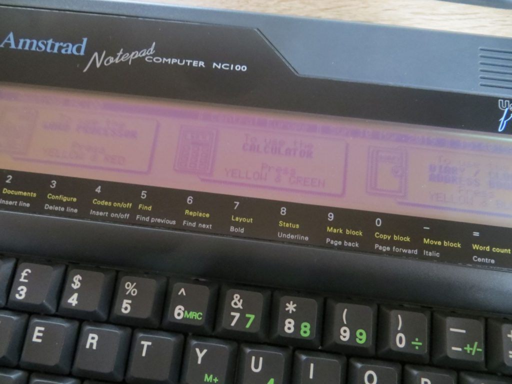 Amstrad NC100 Display
