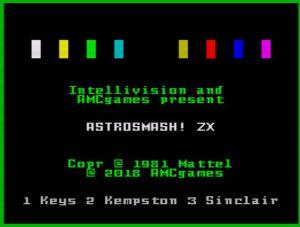 AstroSmash! ZX - Startbildschirm