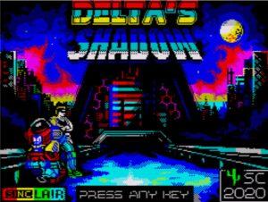 Delta's Shadow 128K - Startbildschirm