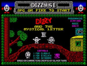 Dizzy and the mystical Letter - Titelscreen