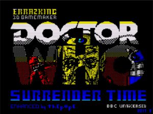 Dr Who Surrender Time - Ladescreen