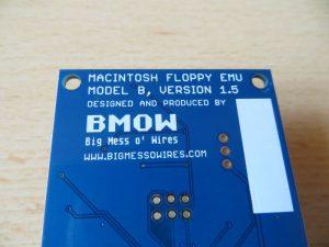 Floppy Emulator - Platine Unterseite Schriftzug