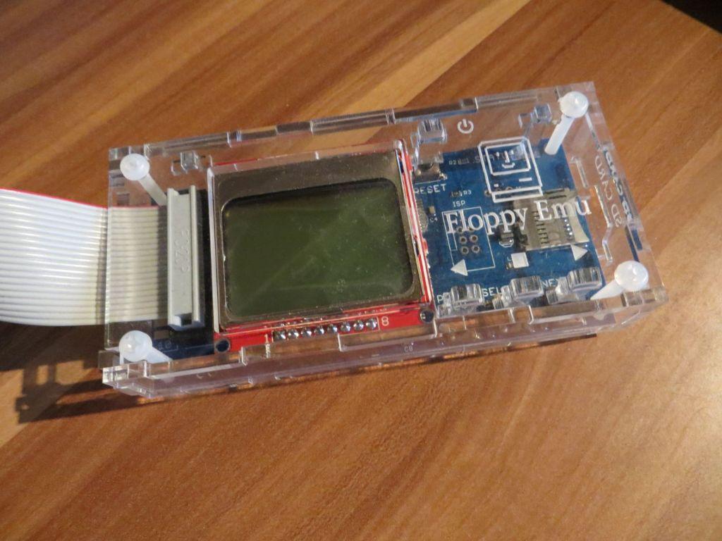 Floppy Emulator - im Acrylgehäuse