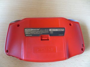 Game Boy Advance - Unterseite